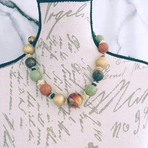 Brown Earth Tone Statement Necklace